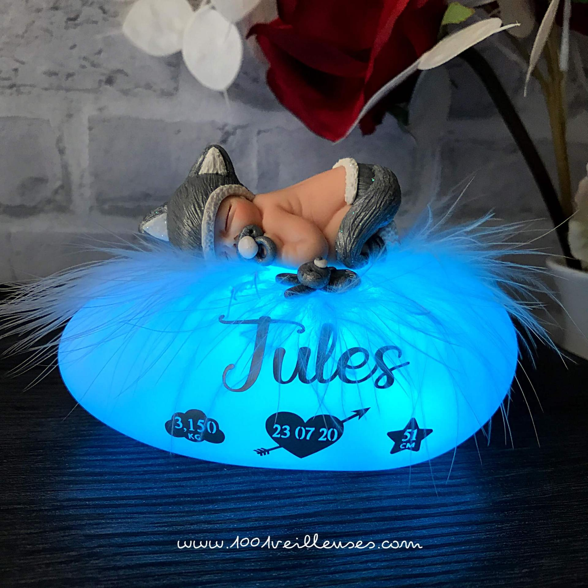 Lampe led personnalisable insolite chat