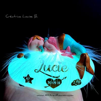 custom night light - baby mermaid